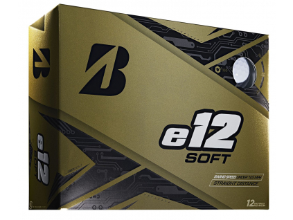 Bridgestone e12 Soft, bílé, 12 míčků