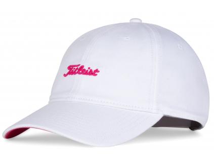 Titleist Pink Out Cap, kšiltovka, bílá, růžová