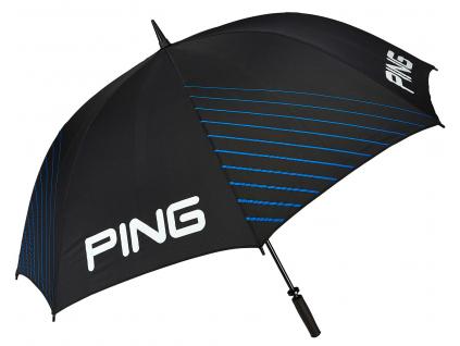 Ping Single Canopy Umbrella, Black, Mach Blue