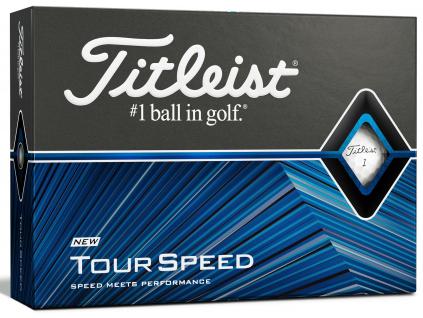 Titleist Tour Speed, bílé  | 3 golfové míčky