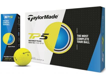 TaylorMade TP5, žluté    3 golfové míčky