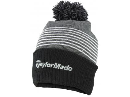 TaylorMade Bobble Beanie, černá, šedá, bílá, pro muže