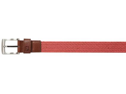 FootJoy Cape Braided Belt, Red, Regular
