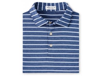 Peter Millar Acres Stripe Jersey Polo, Navy