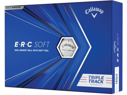 Callaway ERC Soft Triple Track 21, bílé golfové míčky  | 3 golfové míčky