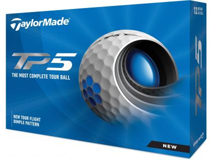 Golfové míčky TaylorMade TP5 21, bílé  | 3 golfové míčky