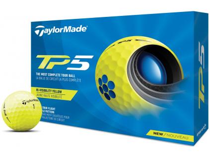 TaylorMade TP5 21, žluté  | 3 golfové míčky