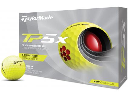 TaylorMade TP5x 21, žluté  | 3 golfové míčky