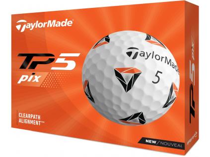 TaylorMade TP5 Pix 2.0, bílé  | 3 golfové míčky