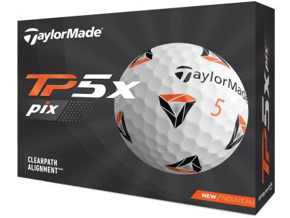 TaylorMade TP5x Pix 2.0, bílé  | 3 golfové míčky