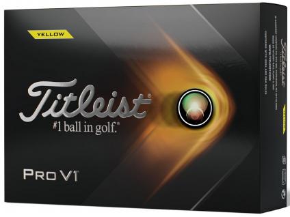 Titleist PRO V1, žluté  | 3 golfové míčky