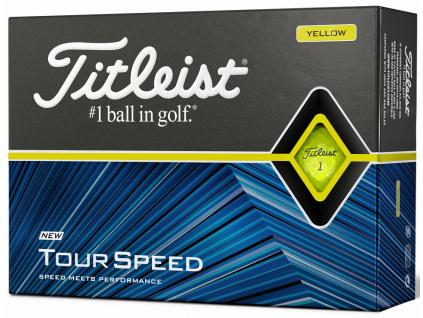 Titleist Tour Speed, žluté  | 3 golfové míčky