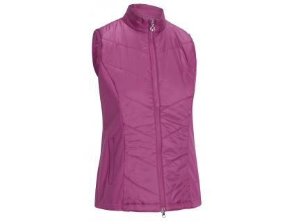 Callaway Chevron Quilted Vest, Cactus Flower, golfová vesta pro ženy