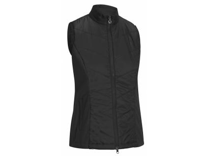 Callaway Chevron Quilted Vest, Caviar, golfová vesta pro ženy