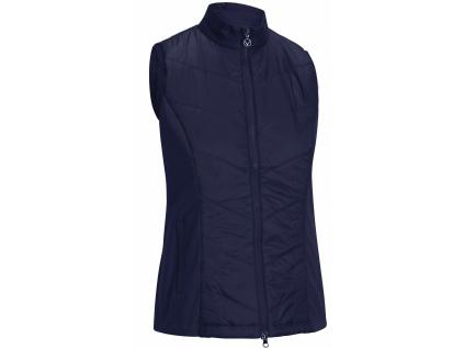 Callaway Chevron Quilted Vest, Peacoat, golfová vesta pro ženy
