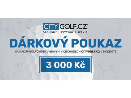 Citygolfcz poukaz 3000