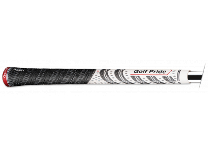 Golf Pride MCC Align, Černý, Bílý  s proužkem na spodku gripu pro přesné založení.