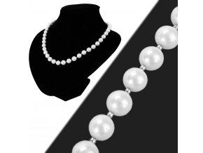 Náhrdelník perlový biely shell perly 10 mm