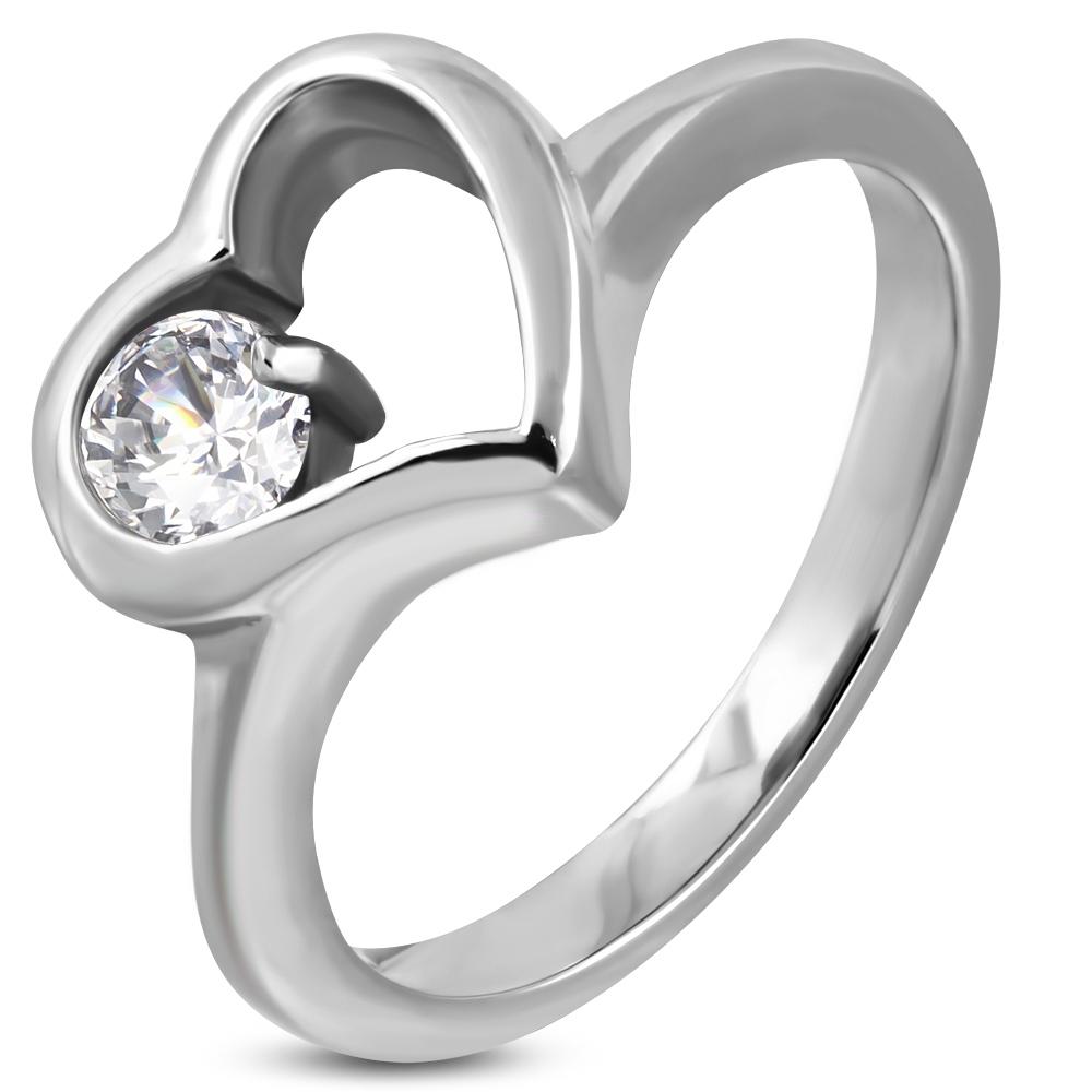 Prsteň so srdiečkom a očkom  + darčeková krabička zadarmo velkost prstena: 51