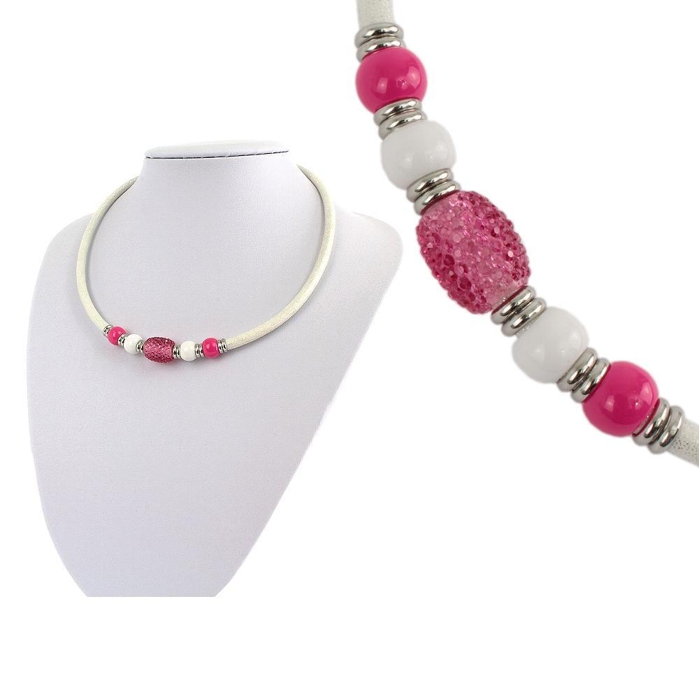 Náhrdelník ružový  + darčeková krabička zadarmo