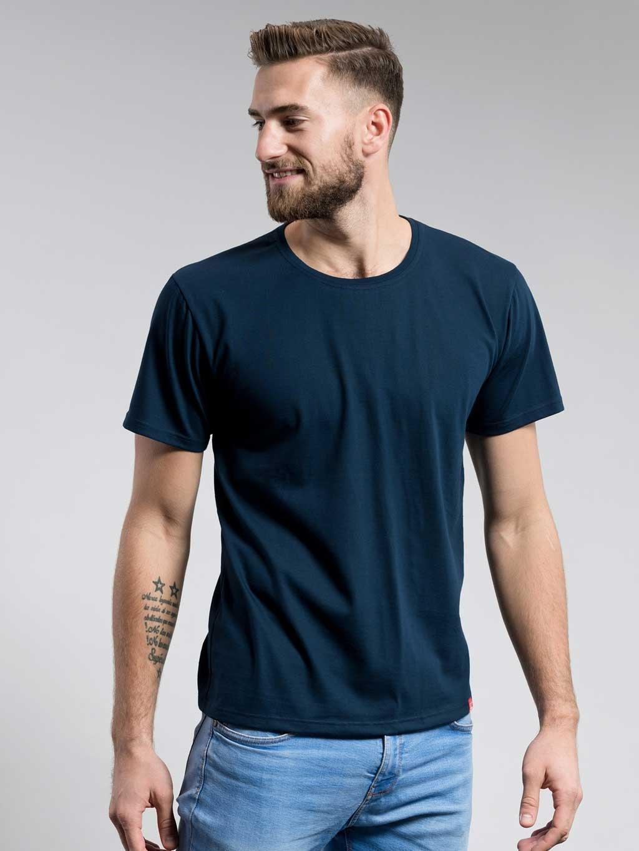 Bavlněné triko CityZen NAVY kulatý výstřih (Velikost S)