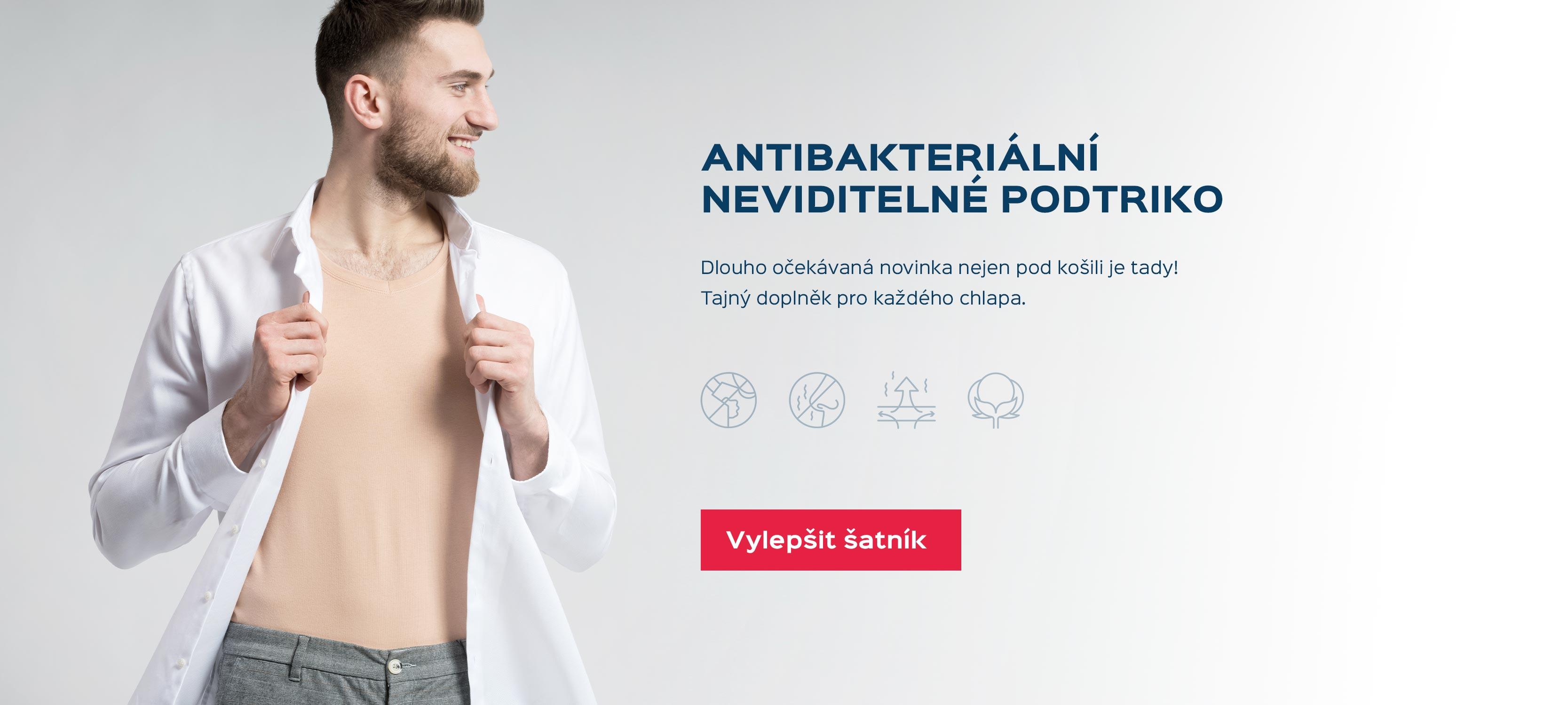 Antibakteriální neviditelné triko pod košili