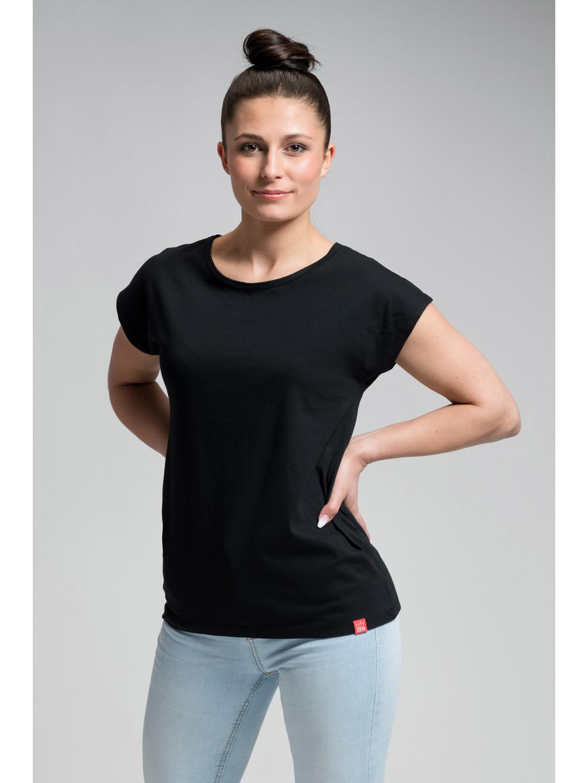 dámské tričko proti pocení CityZen černé kimonový rukáv