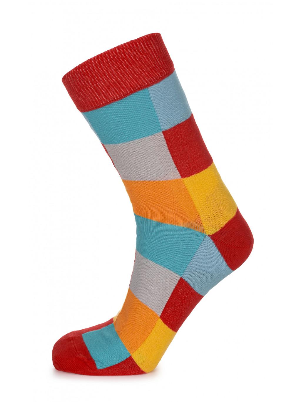 ponozky kostkovane barevne 01