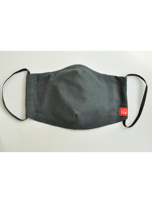 Antibakteriální rouška Blanka s kapsou šedá 5 ks gumičky
