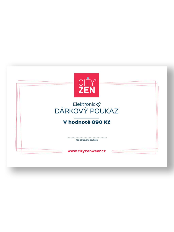 Elektronický dárkový poukaz na tričko CityZen