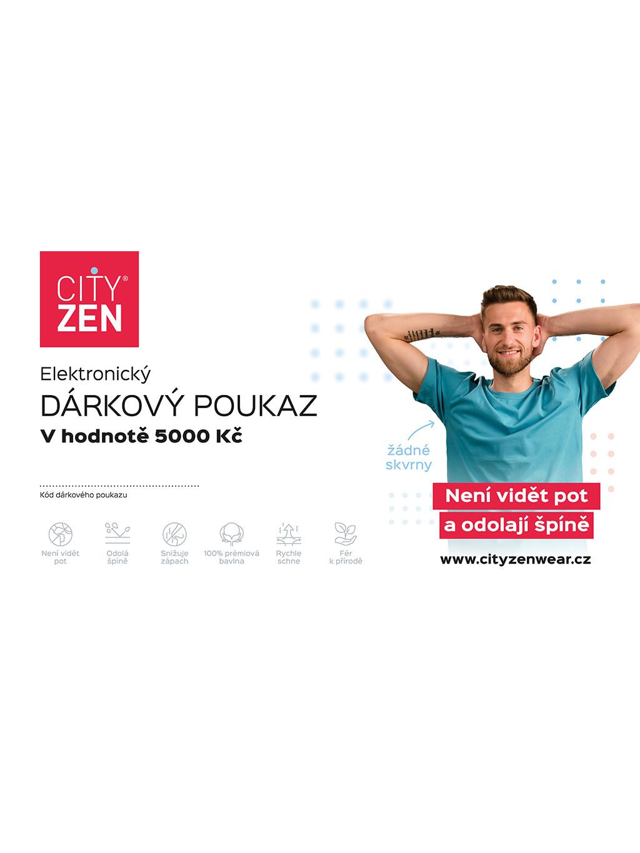 Elektronický dárkový poukaz CityZen v hodnotě 5 000 Kč