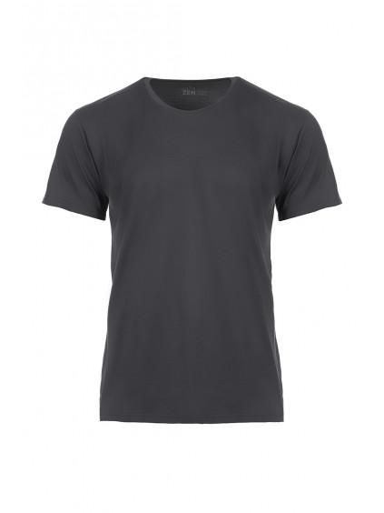 Bavlněné triko CityZen šedé kulatý výstřih + dárek