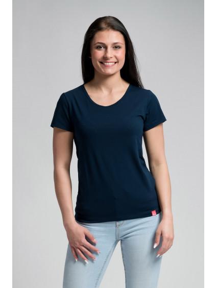 Dámské bavlněné triko CityZen NAVY klasické