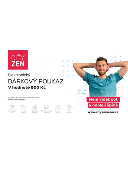 Elektronický dárkový poukaz CityZen v hodnotě 500 Kč