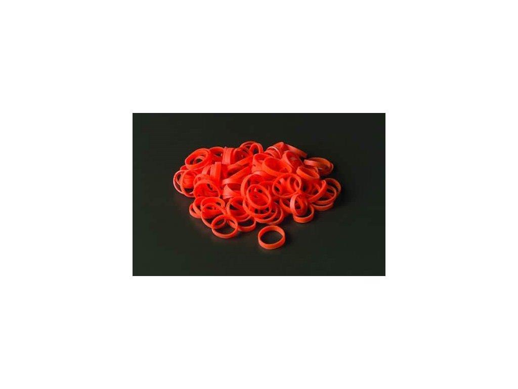 Nesterilní příchytné kroužky, bez latexu 1,9 cm, bílé. Balení 100 ks