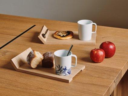 Snídaňový servis - Rectangle Porcelain Blue