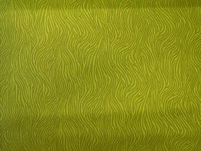 designová koženka zelená - motiv