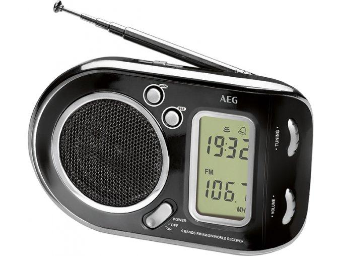 AEG WE 4125 cestovni radio cerna