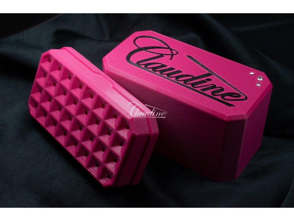 Krabička růžová - sytá