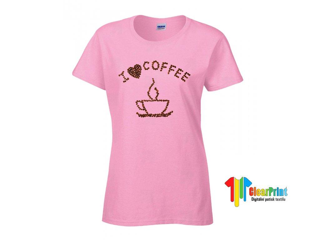 I Love Coffee Náhled pink