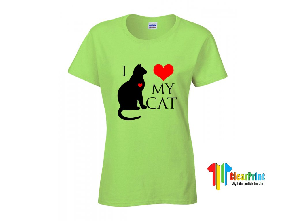 I Love My Cat 2 Náhled green