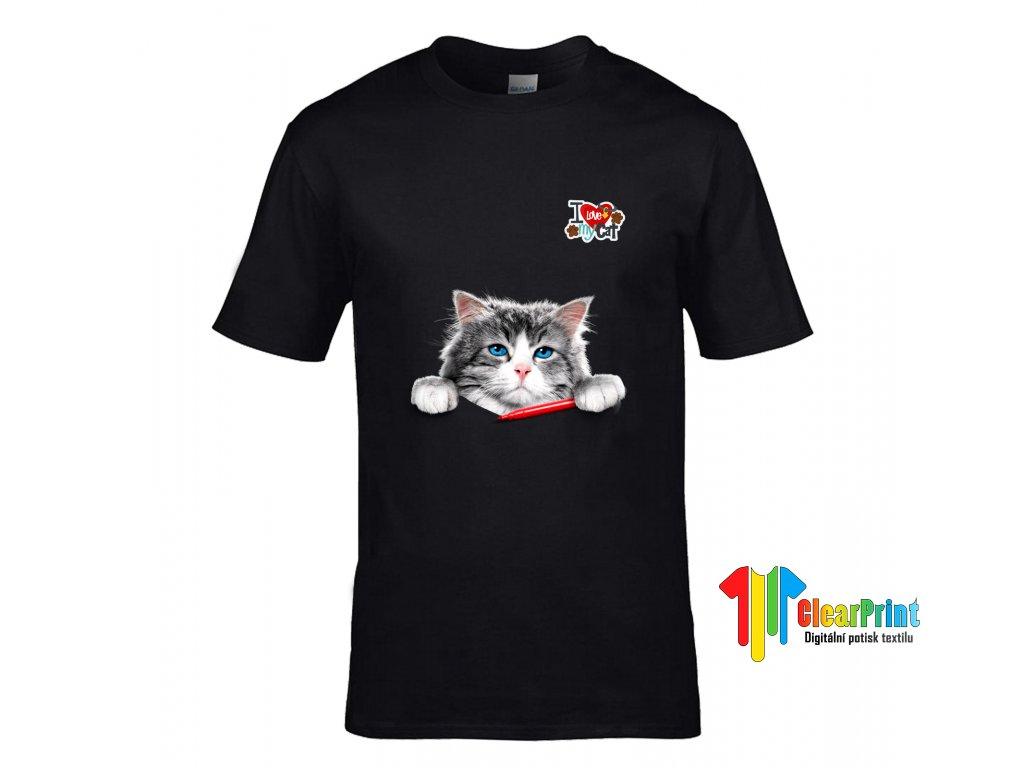 I Love My Cat Náhled black