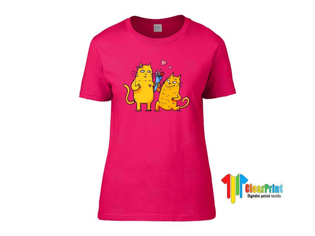 Tričko Zamilované kočky - ClearPrint 86262eec22