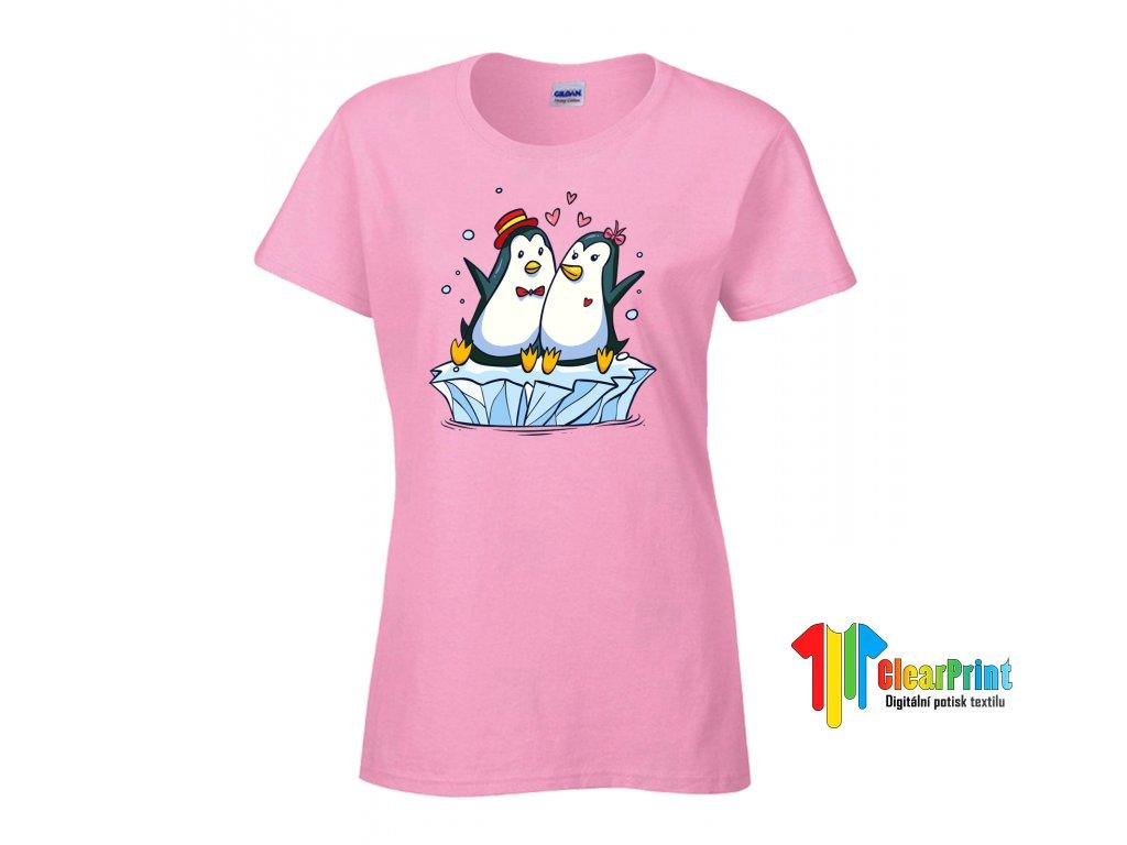 Zamilovaní tučňáci Náhled pink
