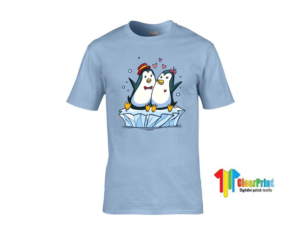 Tričko Zamilovaní Tučňáci - ClearPrint aed2ae05e2