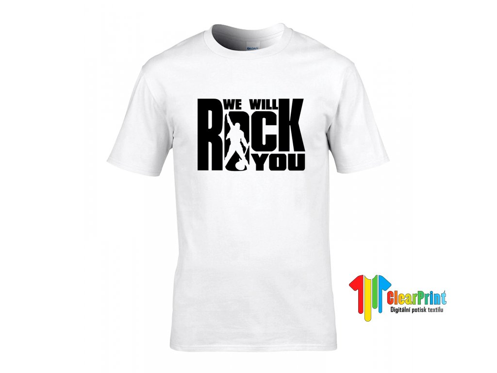We Will Rock You Náhled white