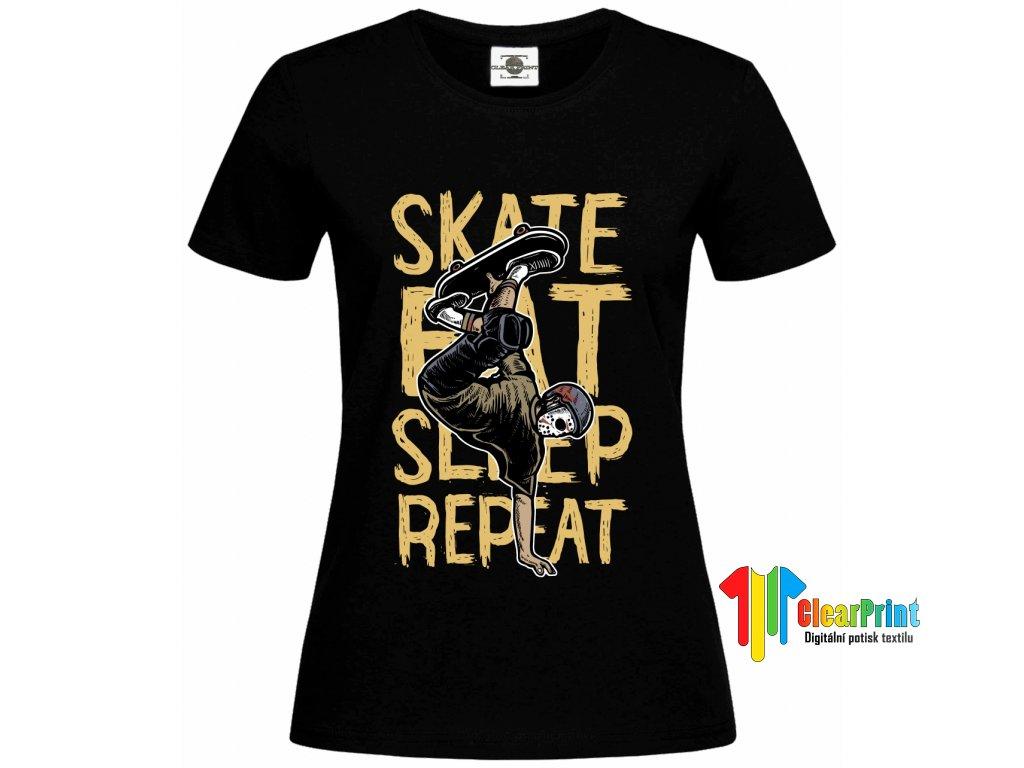 Skate Eat Sleep Náhled black d
