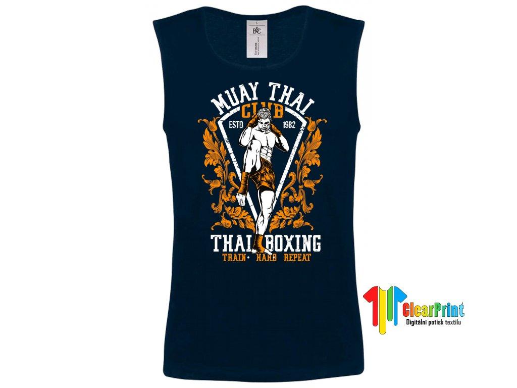 Thai Boxing Náhled navy t