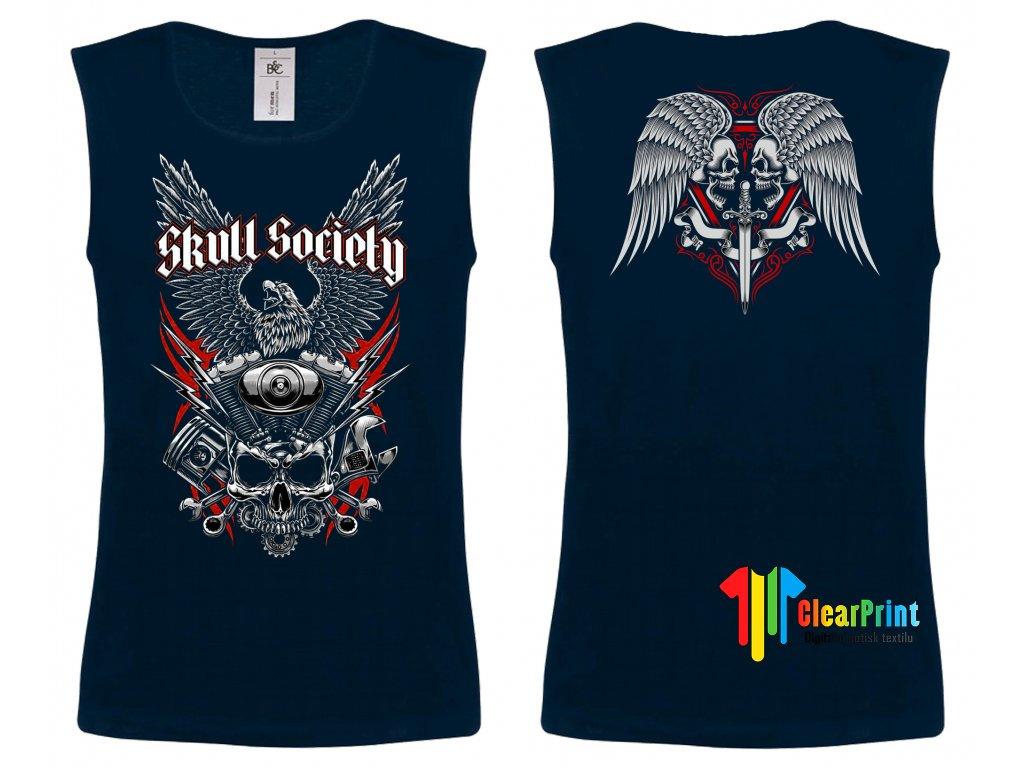 Skulls society Náhled navy