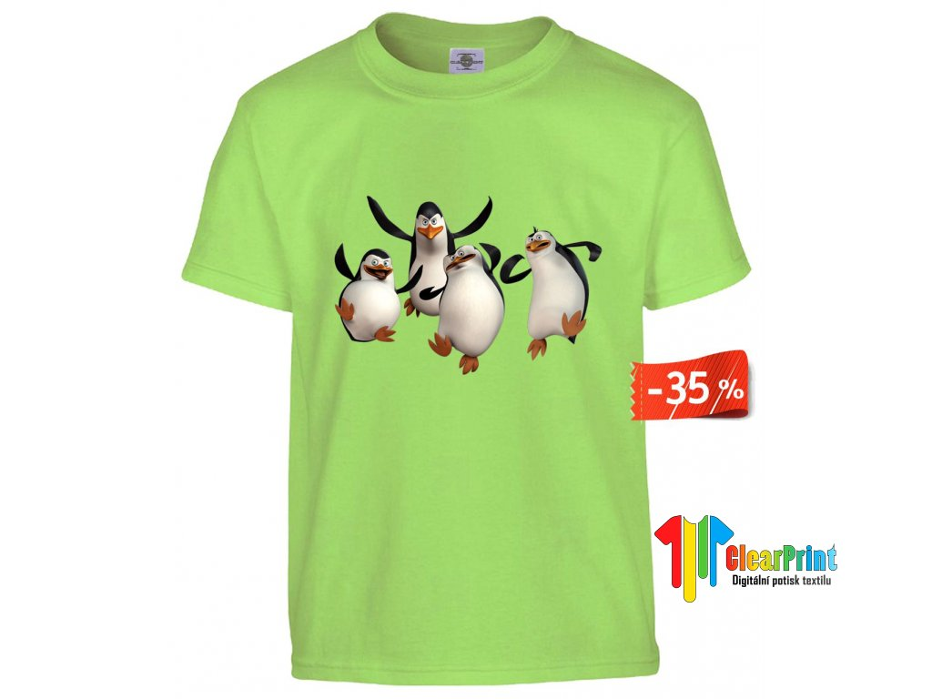 Penguins Madagascar Náhled mint green